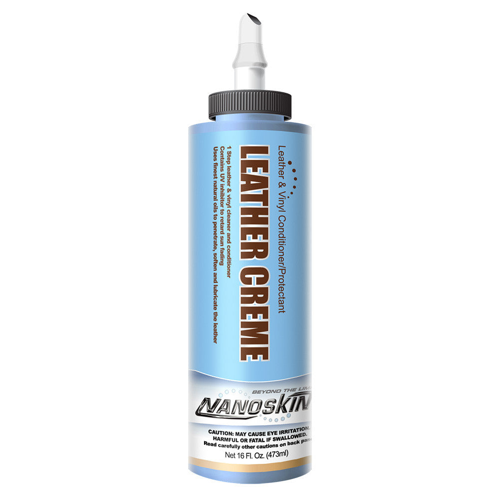 NANOSKIN LEATHER CREME Leather & Vinyl Conditioner/Protectant - 16 oz.