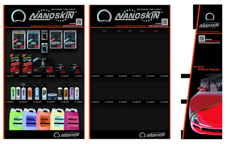 "NANOSKIN Endcap Product Display W35.75"" x H60"" x D17.8"""