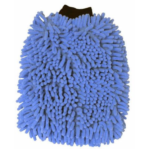 "7.5"" x 10.5"" Microfiber Chenille Wash Mitt Included Cuff"