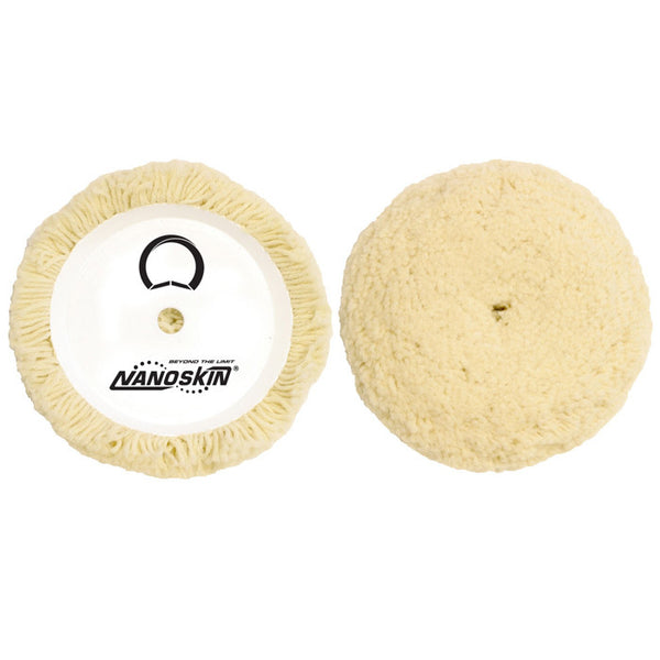 "NANOSKIN 7.5"" 100% Twisted 4-ply Wool Compounding & Buffing Pad"