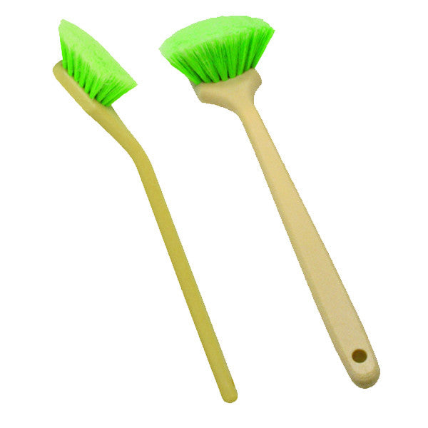 "20"" Angled Head Bristles Brush - Green Polystyrene"