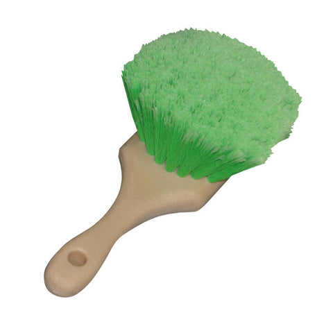 "8.5"" Flagged-Tips Green Polystyrene Bristles Brushes"