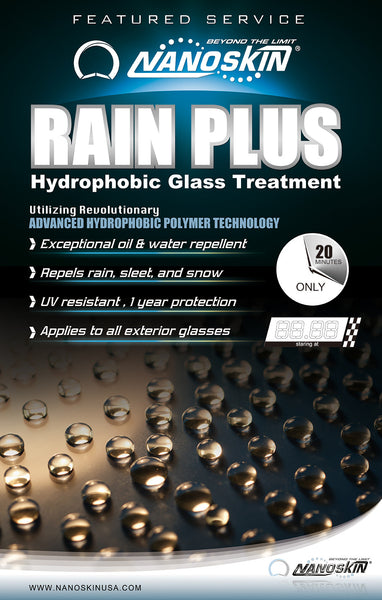 RAIN PLUS Hydrophobic Glass Treatment