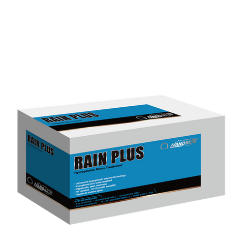 • Advanced hydrophobic polymer technology<br> • Becomes part of the glass<br> • Exceptional oil & water repellent<br> • Repels rain, sleet, and snow<br> • UV resistant<br> • 1 year protection<br> • Applies to exterior glass<br>