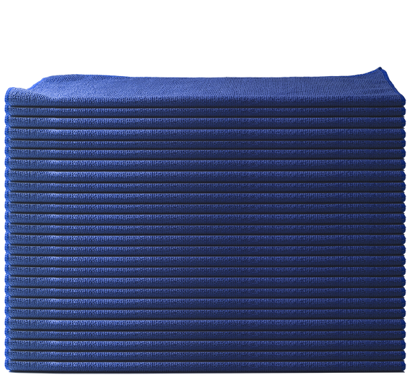 "NANOSKIN 16"" x 16"" All Purpose Microfiber Towel 36 Pack - BLUE"