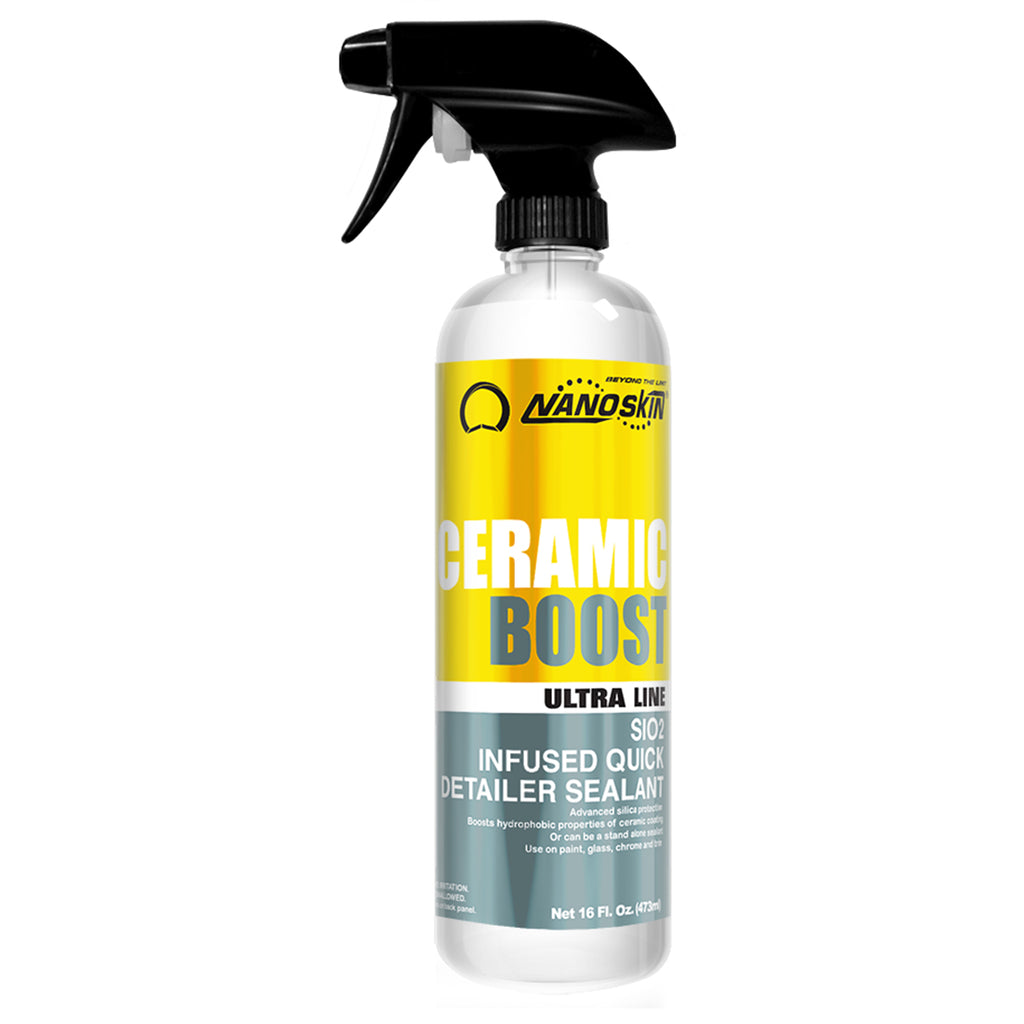 • Advanced silica protection<br>• Boosts hydrophobic properties of ceramic coating<br>• Or can be a stand alone sealant<br>• Use on paint, glass, chrome and trim
