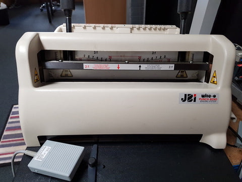 2008 Fully Serviced JBI PB3300 Electric Punch & Bind machine with 3:1 Round (4mm) hole punch tool