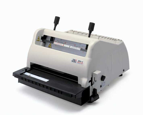 JBI PB3300 Electric Punch & Bind machine with 3:1 Round (4mm) & 2:1 Round (6mm) hole punch tool