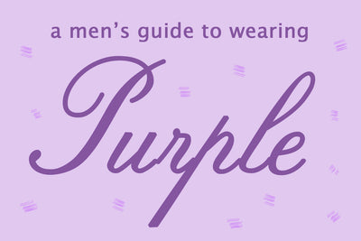 A Men's Guide to Wearing Purple