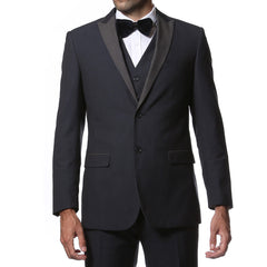 The Alta Moda 3pc Navy Peak Lapel Super Slim Tuxedo