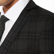 zonettie ares plaid button slim fit mens blazer
