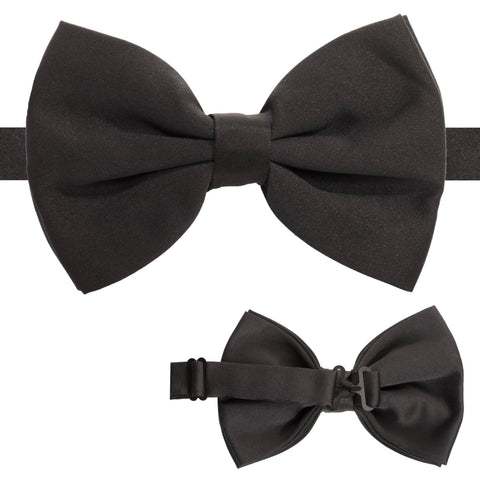 Axis Black Adjustable Satin Bowtie