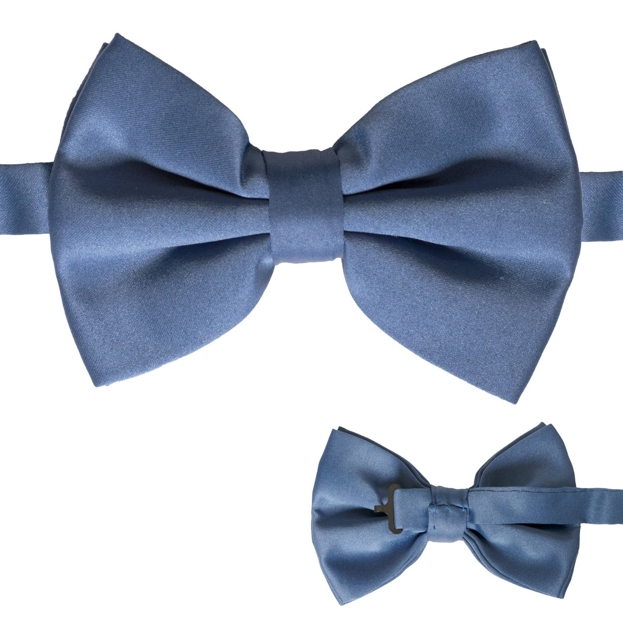Axis Navy Blue Adjustable Satin Bowtie