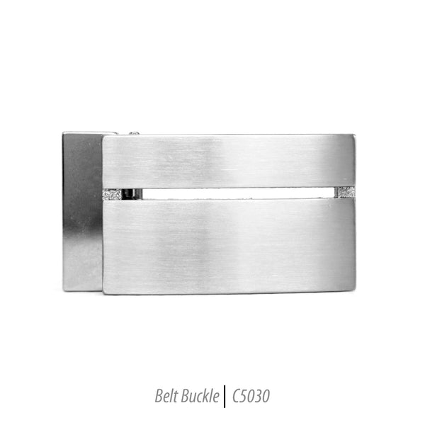 flat slit stainless steel mens belt buckle fashion