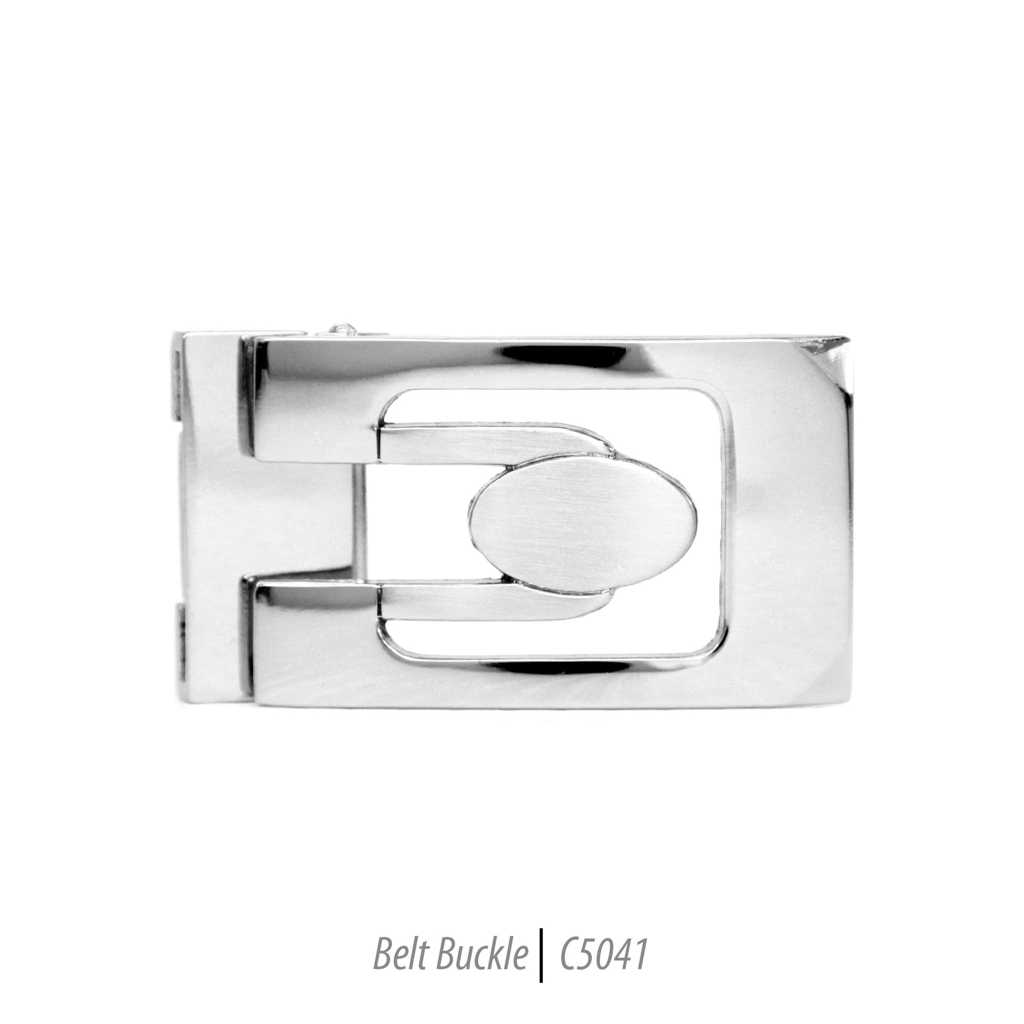 stylish mens steel buckle