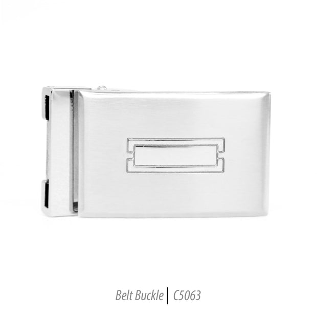 mens steel belt rectangle in rectangle