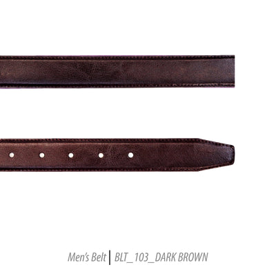 dark brown leather mens belt fashion ferrecci