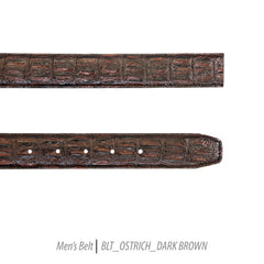 dark brown mens belt leather FHY INC Ferrecci ostrich