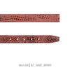 brown snake leather mens belt Ferrecci