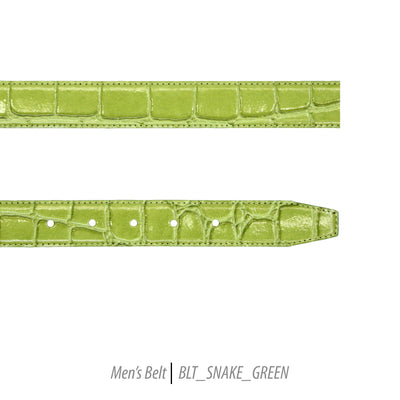 green mens belt snake leather ferrecci classic