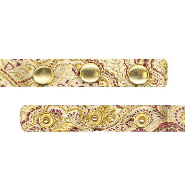 Luxury Paisley Tapestry Gold Bow Tie - Ferrecci USA