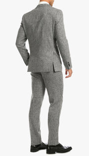 Bradford Grey Slim Fit 3 Piece Tweed Suit - Ferrecci USA