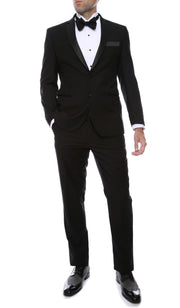 Bronson Black Slim Fit Notch Lapel Tuxedo