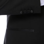 The Zonettie by Ferrecci Bronson Slim Fit Notch Lapel Black Tuxedo