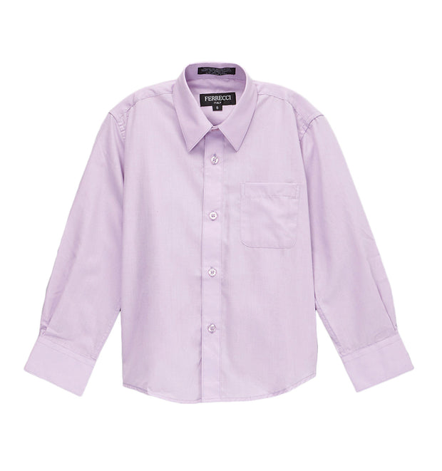 Premium Solid Cotton Blend Lilac Dress Shirt - Ferrecci USA