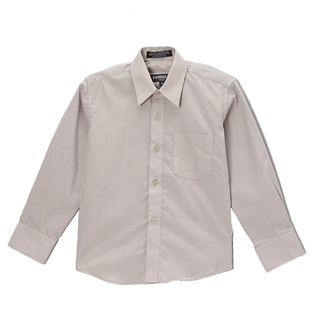 Premium Solid Cotton Blend Light Grey Dress Shirt