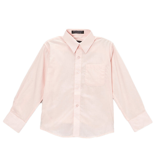 Premium Solid Cotton Blend Light Pink Dress Shirt - Ferrecci USA
