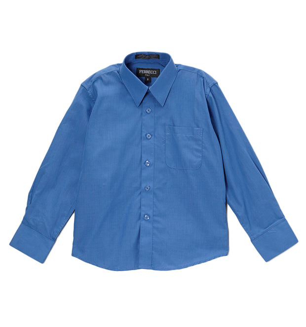 Premium Solid Royal Blue Dress Shirt - Ferrecci USA