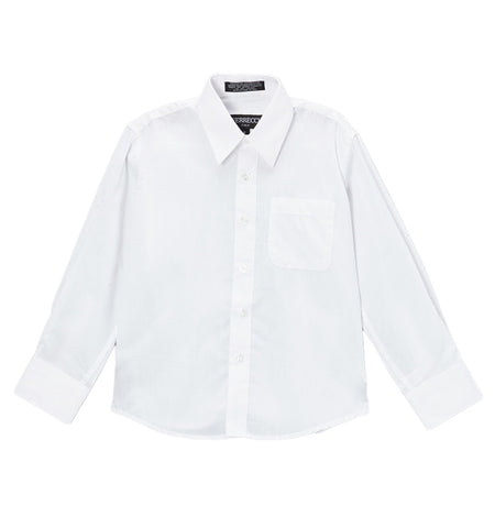 Premium Solid Cotton Blend White Dress Shirt