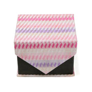 Men's Pink-Purple Boxy Geometric Design 4-pc Necktie Box Set - Ferrecci USA