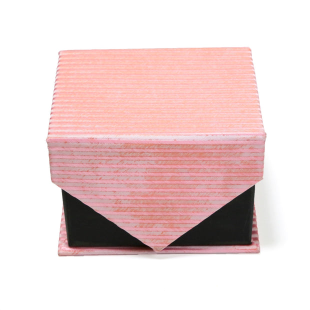 Men's Soft Pink Striped Design 4-pc Necktie Box Set - Ferrecci USA