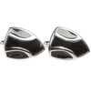 Silvertone Novelty Shield Cufflinks with Jewelry Box