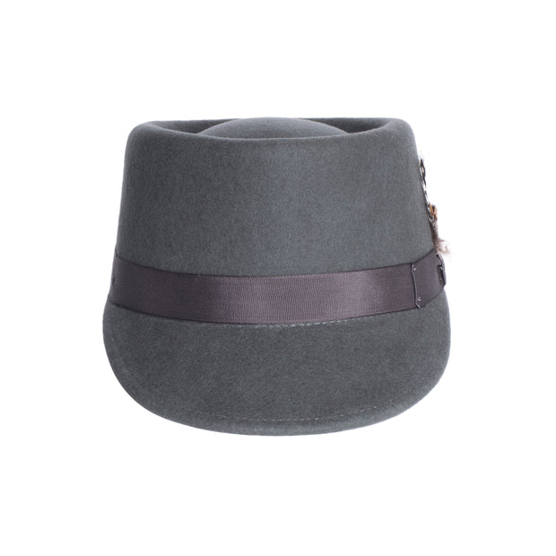 Modern Conductor Train Engineer Hat - Charcoal - Ferrecci USA