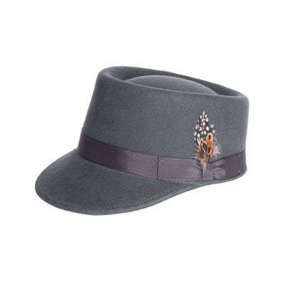 Modern Conductor Train Engineer Hat - Charcoal