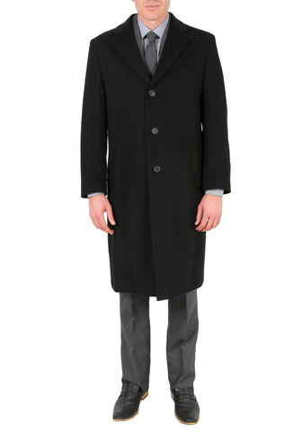 'Creed' Men's Wool Black Tone Stripe Top Coat