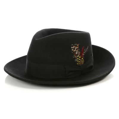 Crushable Fedora Hat in Black - Ferrecci USA