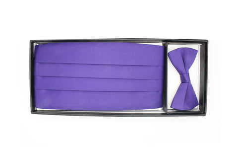 Satine Purple Bow Tie & Cummerbund Set