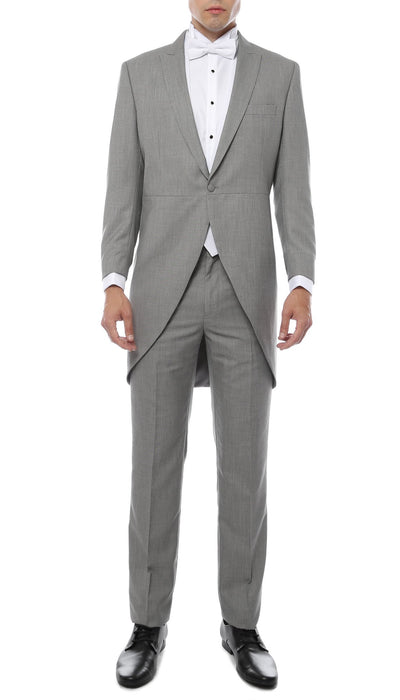 Mens Grey Cutaway Regular Fit 2 Piece Tuxedo Suit - Ferrecci USA