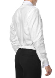 Premium White Pique 100% Cotton Backless Tuxedo Vest / FIT ALL (S-XL)