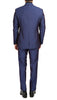 Mens Daxson Navy Slim Fit Shawl Collar 3pc Tuxedo