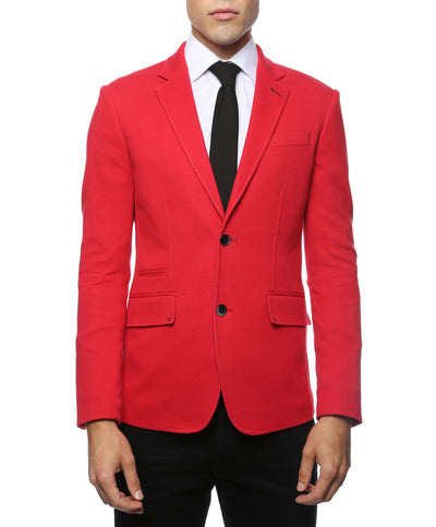 Daytona Red Stretch Slim Fit Blazer - Ferrecci USA