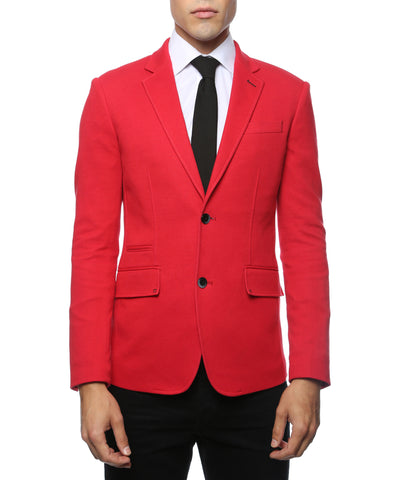 Daytona Red Stretch Slim Fit Blazer