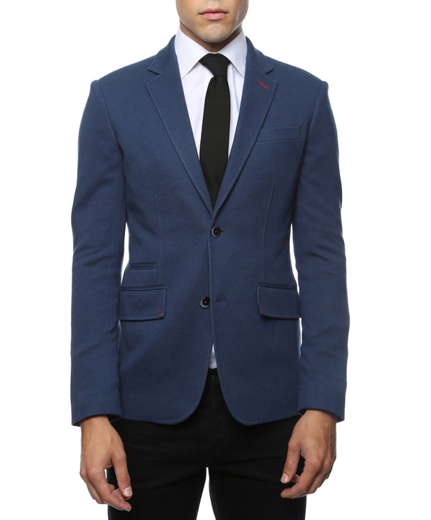 Daytona Navy Blue Stretch Slim Fit Blazer - Ferrecci USA