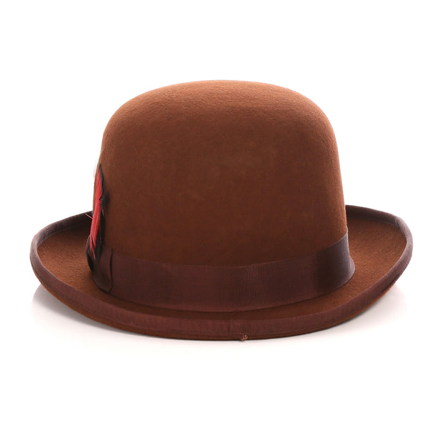 Premium Wool Derby Hat - Brown - Ferrecci USA
