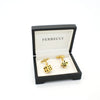 Goldtone Dice Cuff Links With Jewelry Box