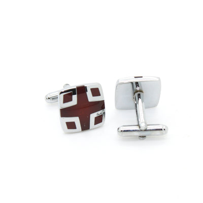 Silvertone Burdungy Cuff Links With Jewelry Box